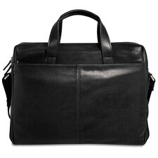 Soho Single Gusset Leather Laptop Briefcase