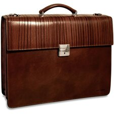 <strong>Jack Georges</strong> Monserrate Double Gusset Leather Briefcase