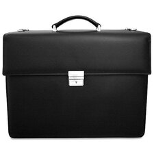 <strong>Jack Georges</strong> Prestige Double Gusset Leather Briefcase