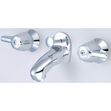 <strong>Central Brass</strong> Wall Mounted Bathroom Sink Faucet with Double Lever Handles