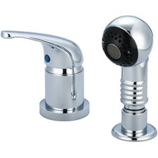 Shampoo Widespread Single Lever Handle Faucet with Pull-Out Sprayhead