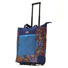 Floral Rolling Shopping Tote