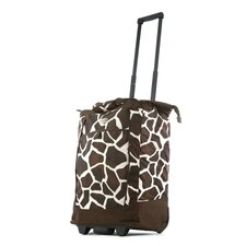 Fashion Giraffe Rolling Shopping Tote