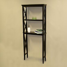 "X-Frame 26"" x 64"" Bathroom Shelf"