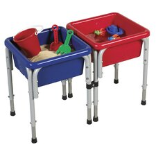 <strong>ECR4kids</strong> Active Play 2 Station Square Sand and Water Table with Lids
