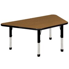 "<strong>ECR4kids</strong> 30"" x 60"" Trapezoid Activity Table in Maple"