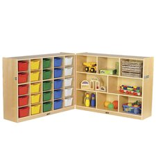 Fold and Lock 25 Tray Storage Cabinet