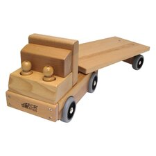 Dramatic Play Flat Bed Truck Transportation Vehicle
