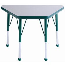 "018"" x 30"" Trapezoid Learning Table in Gray"