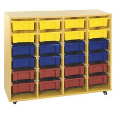 Storage Trolley 20 Compartment Cubby