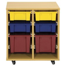 Storage Trolley 6 Compartment Cubby