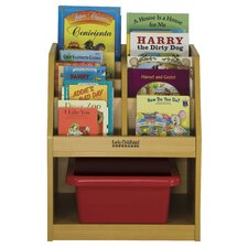 One Sided Book Storage with Reading Sectional