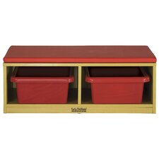 Straight Bench Reading Sectional 4 Compartment Cubby
