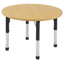"36"" Round Laminate Preschool Table in Maple"
