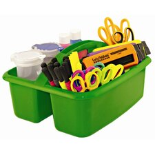 Two Compartment Large Plastic Art Caddy (Set of 12)