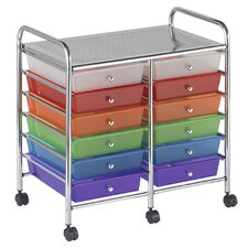 <strong>ECR4kids</strong> 12-Drawer Double-Wide Mobile Organizer