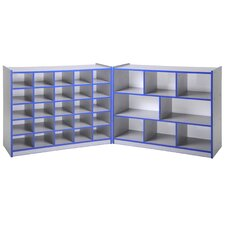 "<strong>ECR4kids</strong> 36"" Fold & Lock Storage Cabinet with 25 Tray"