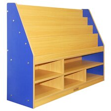 <strong>ECR4kids</strong> Colorful Essentials™ Book Display with Storage - 6 Compartment