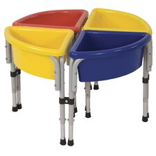 4 Station Sand & Water Center w/ Lids - Round