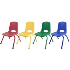 "10"" Plastic School Stack Classroom Chair with Matching Legs (Set of 10)"