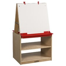 2-Station Art Easel with Storage
