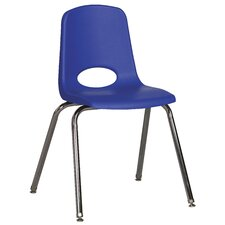 "18"" School Stack Chair with Chrome Legs & Swivel Glide (BLUE)"