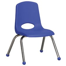 "12"" Plastic Stack Chair with Chrome Legs"
