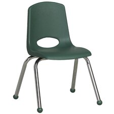 "14"" Plastic Stack Chair with Chrome Legs"