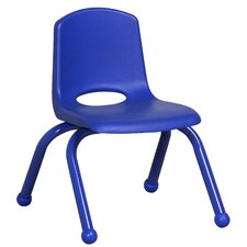 "10"" Plastic Stack Chair with Matching Painted Legs (Set of 6)"
