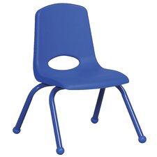 "<strong>ECR4kids</strong> 12"" Plastic Stack Chair with Matching Painted Legs"