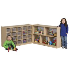 Medium Laminate Storage Cabinet 25 Compartment Cubby
