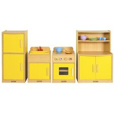 <strong>ECR4kids</strong> 4 Piece Play Kitchen Set