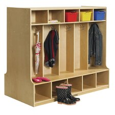 5-Section Double Sided Coat Locker