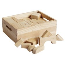 Hardwood Building Blocks 64 pcs
