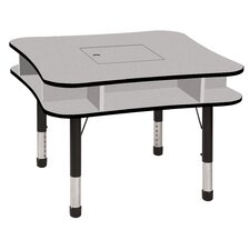 "<strong>ECR4kids</strong> 36"" Media Center Table in Gray"