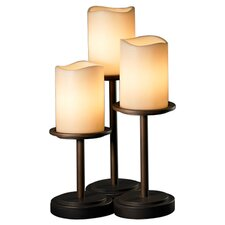 "CandleAria Dakota Portable 16"" H Table Lamp with Drum Shade (Set of 3)"