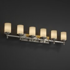 <strong>Justice Design Group</strong> Deco Fusion 6 Light Bath Vanity Light