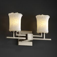 <strong>Justice Design Group</strong> Veneto Luce Aero 2 Light Bath Vanity Light