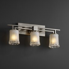 <strong>Justice Design Group</strong> Veneto Luce Aero 3 Light Bath Vanity Light