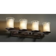 <strong>Justice Design Group</strong> Veneto Luce Dakota 4 Light Bath Vanity Light