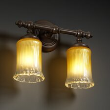 <strong>Justice Design Group</strong> Veneto Luce Tradition 2 Light Bath Vanity Light