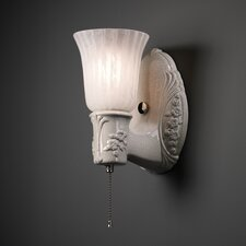 <strong>Justice Design Group</strong> American Classics Heirloom Oval 1 Light Wall Sconce with Uplight Glass Shade