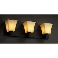 <strong>Justice Design Group</strong> CandleAria Modular 3 Light Bath Vanity Light