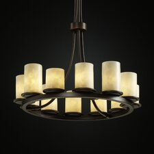 <strong>Justice Design Group</strong> Clouds Dakota 12 Light Chandelier with Shade