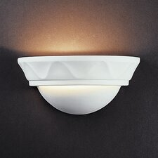 <strong>Justice Design Group</strong> Ambiance Small Cyma 1 Light Wall Sconce