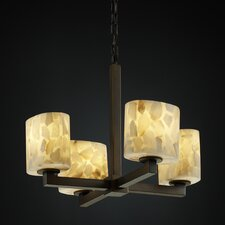 Modular Alabaster Rocks 4 Light Chandelier
