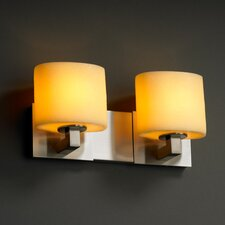 <strong>Justice Design Group</strong> Modular CandleAria 2 Light Bath Vanity Light