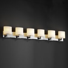 <strong>Justice Design Group</strong> Modular Fusion 6 Light Bath Vanity Light