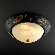 <strong>Justice Design Group</strong> Kid's Room 3 Light Flush Mount