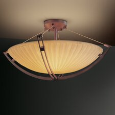 Crossbar Porcelina 6 Light Semi Flush Mount
